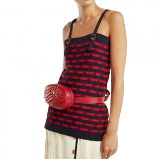 Gucci striped cotton knit tank top