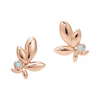 Tiffany & Co. 18kt Gold Paloma Picasso� Olive Leaf Earrings