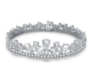 William & Son White Diamond/White Sapphire 18ct Gold Bracelet