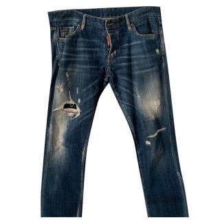 DSquared2 Distressed Mens Jeans
