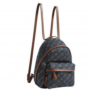 Stella McCartney Leather Trimmed Denim Logo Backpack