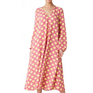 Stine Goya Pink & Yellow Polo Dot Leila Dress