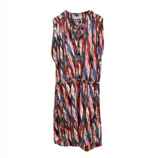 Isabel Marant etoile Red, White & Blue Printed Sleeveless Tunic Dress