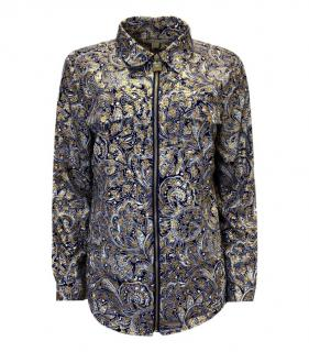 Michael Michael Kors Paisley Print Zip Front Shirt