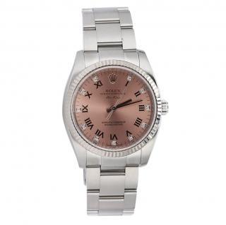 Rolex Air-King 114234 Pink Diamond Roman Dial 34mm Watch