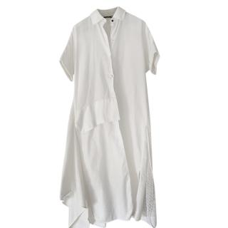 Lena Lumelsky White Cotton Demi Shirt Dress