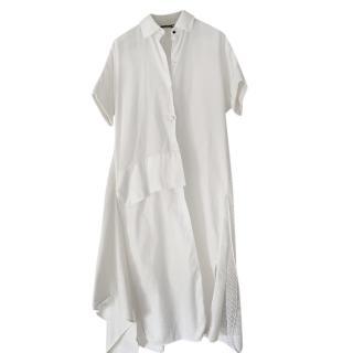 Lena Lumelsky White Cotton Demi Shirt Dress
