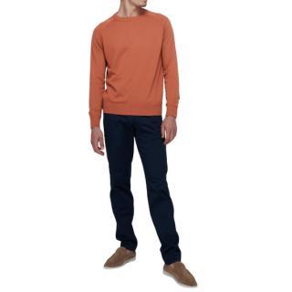 Thom Sweeney Rust Raglan Sweater