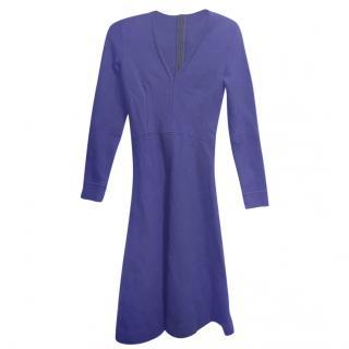 Issa Blue Wool Knit Skater Dress