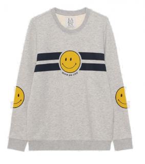 Zoe Karssen High On Life Smiley Grey Sweatshirt