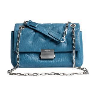 Zadig & Voltaire blue leather chain shoulder bag