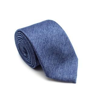 Richard James Sky Blue Silk & Wool Textured Skinny Tie