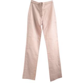Loewe Soft Leather Beige/Tan Tailored Pants