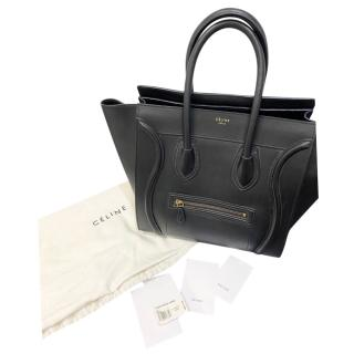 Celine Black Calfskin Mini Luggage Tote
