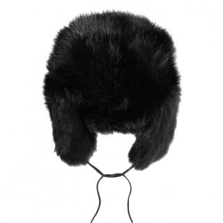 Eugenia Kim Leather Trim Owen Faux Fur Trapper Hat
