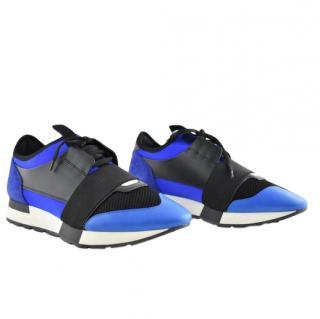 Balenciaga Electric Blue Race Runner Sneakers