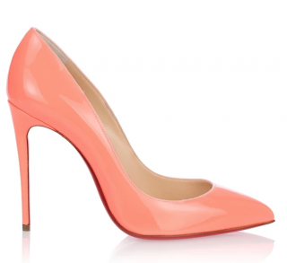 Christian Louboutin Pigalle Follies 100 patent flamingo pumps