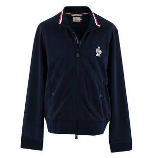 Moncler Grenoble Navy Cotton Jersey Bomber Jacket