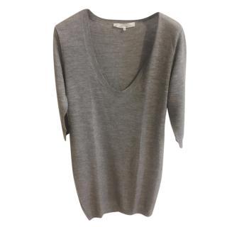 Phillip Lim Grey Cashmere & Wool Knit Top