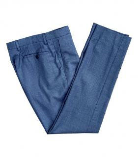 Burberry Blue Wool Tailored Pants
