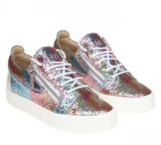 Giuseppe Zanotti Multicolour Glitter Gail Sneakers