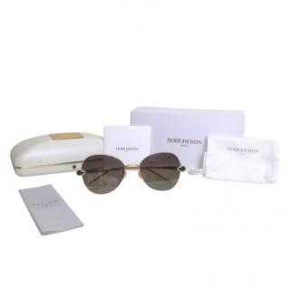 Boucheron Gold Plated Boheme Serpent Aviator Sunglasses