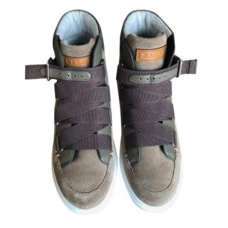 Bally Suede Tonal High Top Sneakers