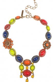 Oscar de la Renta Multi-Coloured Cabochon Necklace