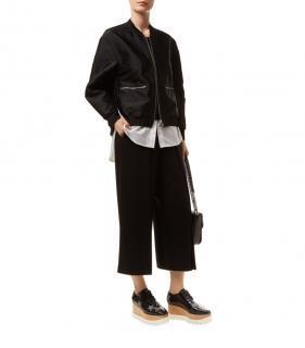3.1 Phillip Lim Black & White Layered Bomber Jacket