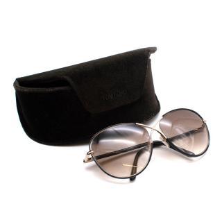 Tom Ford Black & Gold Rosie Sunglasses