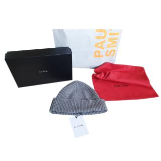 Paul Smith Grey Cashmere & Wool Beanie