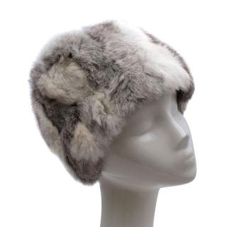 Casselini Fifth Avenue Grey Rabbit Fur Hat