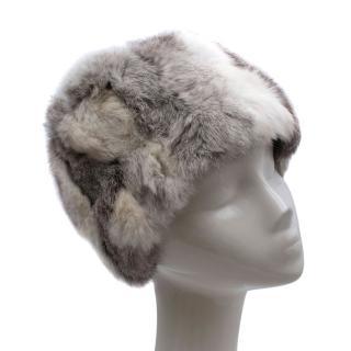 Casselini Fifth Avenue Grey Rabbit Fur Hat
