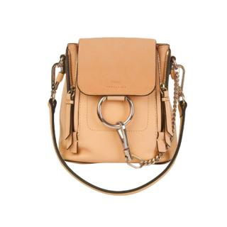 Chloe Mini Faye backpack in smooth & suede calfskin