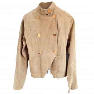 Loewe Two Tone Suede & Canvas High Neck Jacket