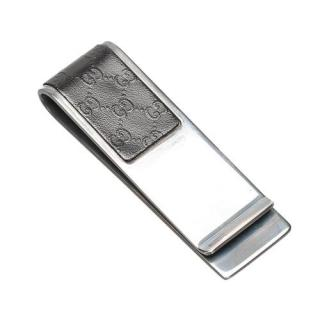 Gucci Stainless Steel Microguccissima Money Clip