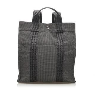 Hermes Gray Canvas Herline 2-Way Backpack