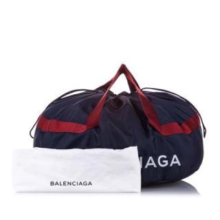 Balenciaga Navy Blue S Wheel Everyday Nylon Travel Bag