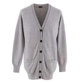 Joseph Grey Cashmere Knit Cardigan