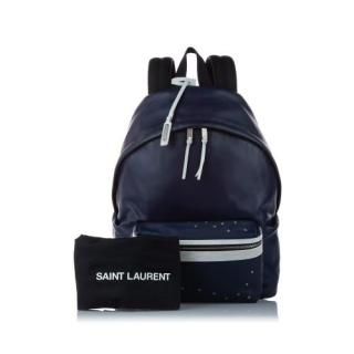 Saint Laurent Blue Leather Zaino Backpack