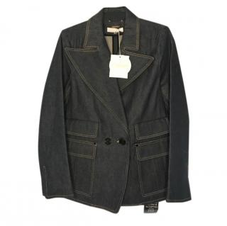 Chloe Double Breasted Denim Tailored Jacket