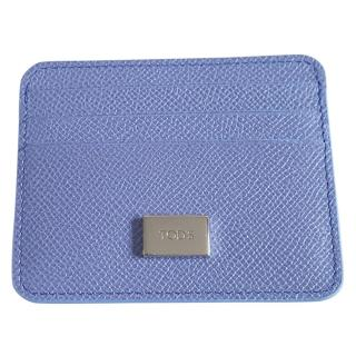 Tod's Lilac Grained Leather Card Holder