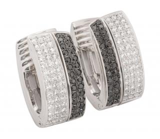 Chopard White Gold Black & White Diamond Set Earrings