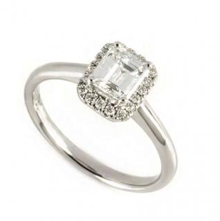 Bespoke White Gold Emerald Cut Diamond Ring