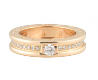 Bvlgari Rose Gold Diamond Set B.Zero1 Ring