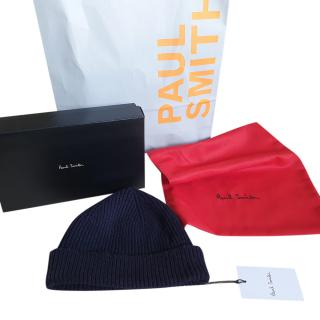 Paul Smith Grey Ribbed Knit Beanie