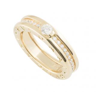 Bvlgari Yellow Gold Diamond Set B.Zero1 Ring