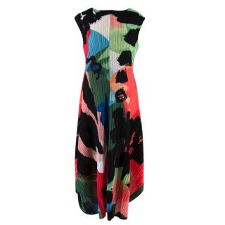 Pleats Please Issey Miyake Floral Print Dress