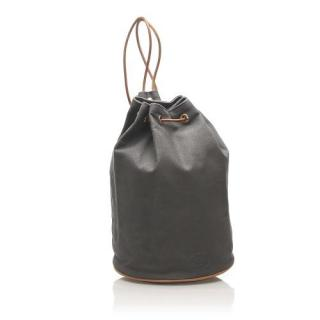 Hermes Grey Canvas Polochon Mimile Backpack