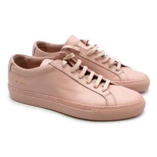 Common Projects Pink Leather Achilles Sneakers